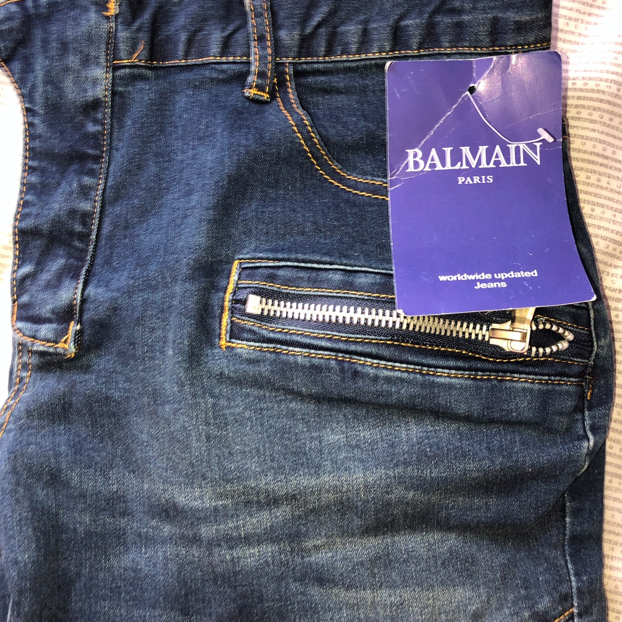 finest selection finest selection new products BRAND NEW BALMAIN JEANS Size 36 Payment can be made... - Depop