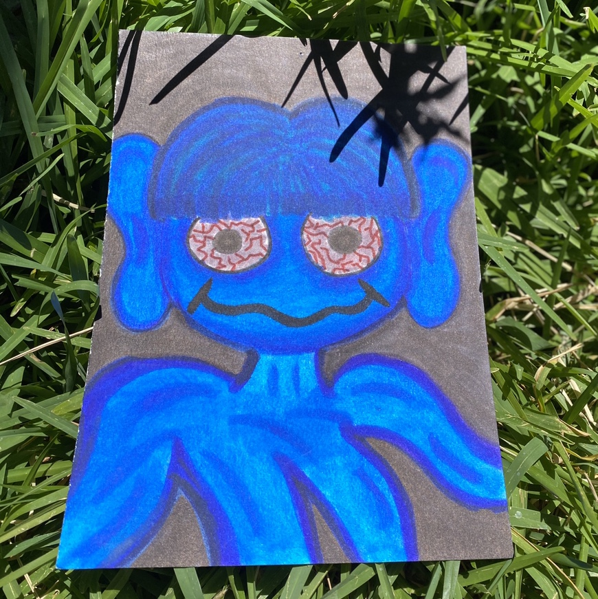 Trippy Drawing Trippie Blue Alien Drawing Super Depop If you have any suggestions from what lights or tapestries to buy to what music to play or things to watch, put them here. depop