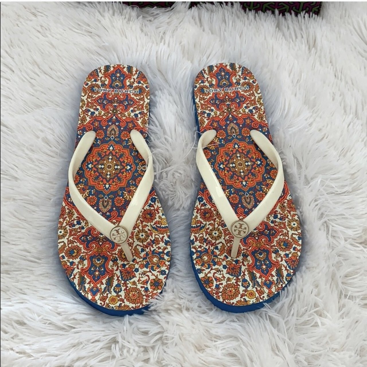 36780f2c6 Brand new with box Authentic Tory Burch flip flops size 11   - Depop