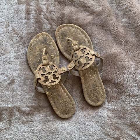 ef3590ecd Tory Burch Miller Sandals Worn a few times only DM for - Depop