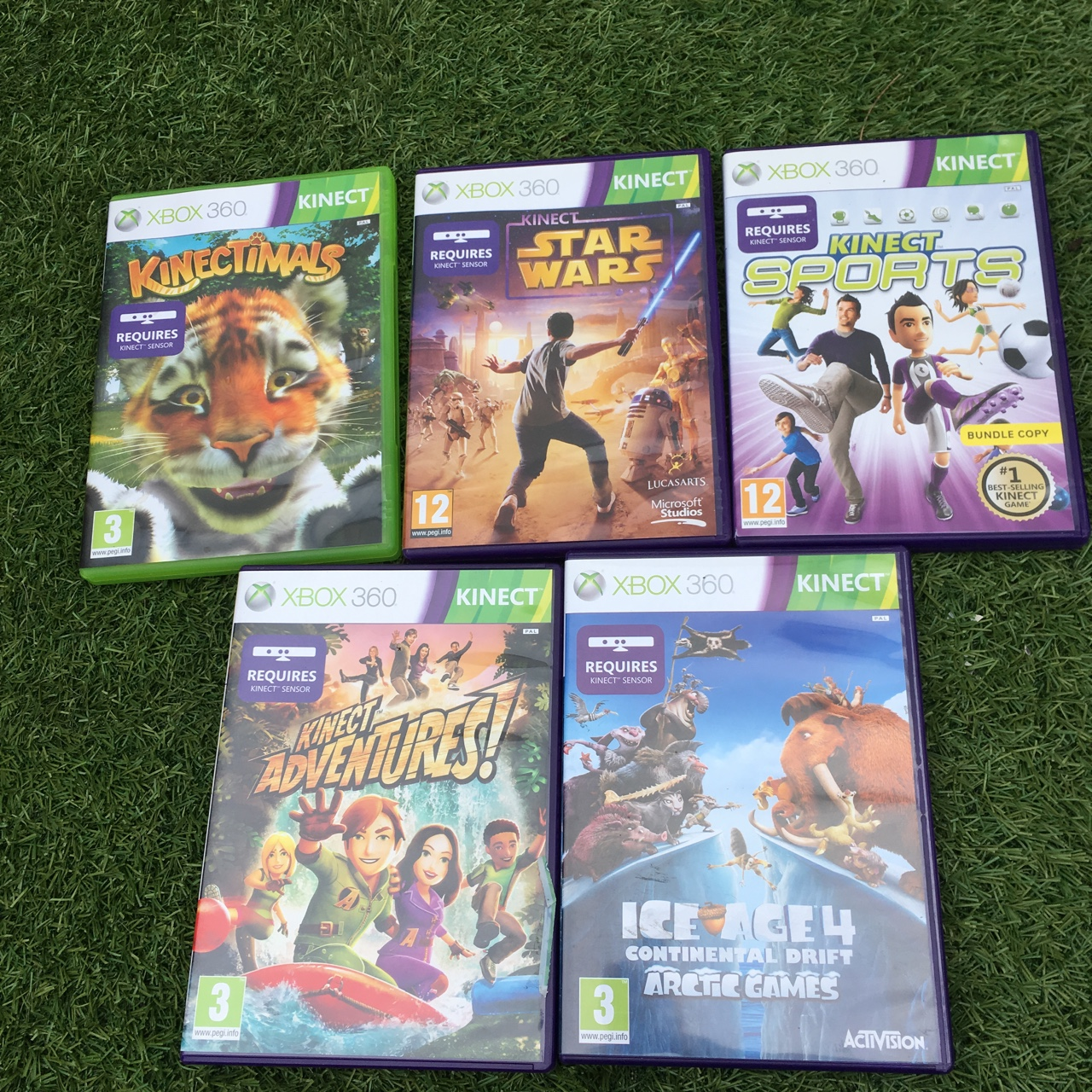 5 Xbox 360 Kinect games 💞 Can sell separate msg me    - Depop