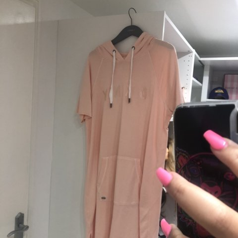 9eecbca5b29 Peach DKNY jumper dress X Worn a good few times but still in - Depop
