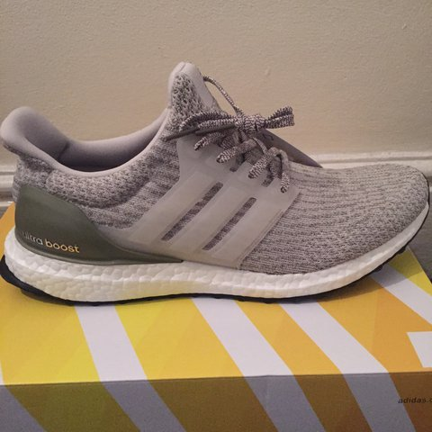 b9ccca4ed0f58 Adidas Ultra Boost Pearl Grey   Trace Cargo Sold out 9 UK to - Depop