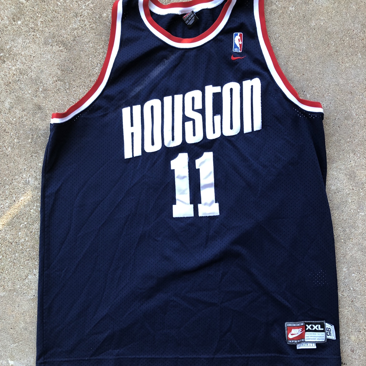 new product fc0b7 a4efc Yao Ming Houston Rockets Throwback Jersey Size... - Depop