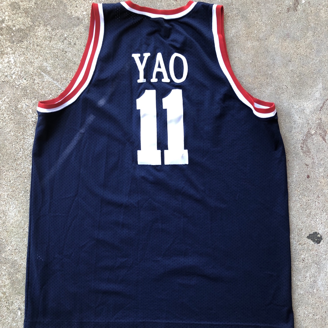 new product b4d89 193e6 Yao Ming Houston Rockets Throwback Jersey Size... - Depop