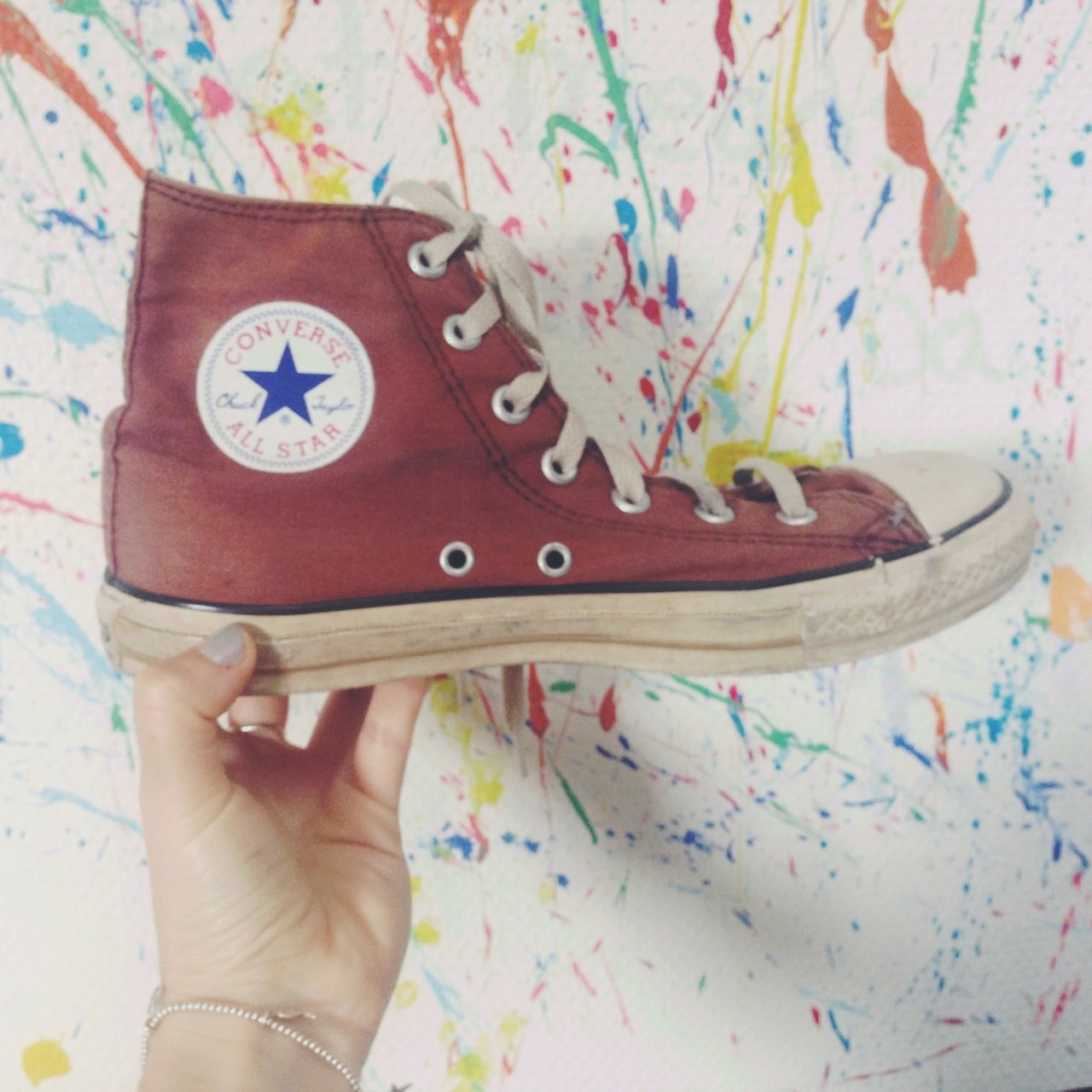 b30d1d5d340f 👟 Brown high tops Converse All Stars 👟 UK SIZE 5    used A - Depop