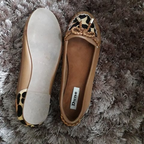 3251afe25 @jayeu. 2 months ago. Greater Manchester, United Kingdom. Dune Leopard print  and tan flat ballerina shoes.