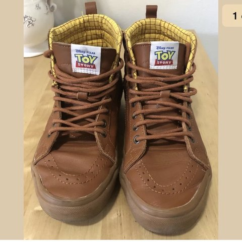 633385dbf4 Toy story x vans woody pt sk8 high Very rare shoes men s 7 - Depop