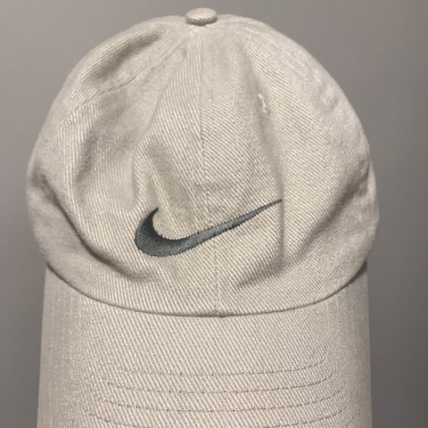 821fb452c9 Flawless vintage nike dad hat. Tan and olive green color a - Depop