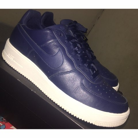 3d4933f550 Nike Air Force 1 UltraForce LTHR (leather) Midnight Navy Us - Depop
