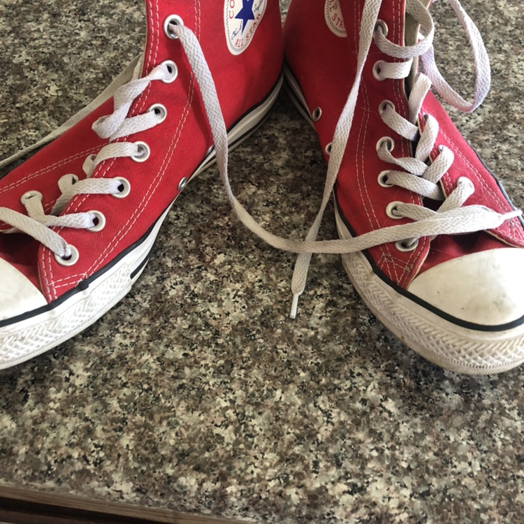 Vintage red Converse Chuck Taylor High