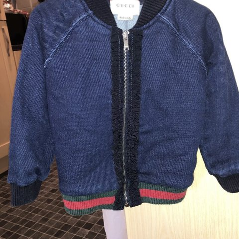 e3b173c0 @mayasn. 2 months ago. Harrow, United Kingdom. Baby girls Gucci jacket 9/ 12months. Open to offers