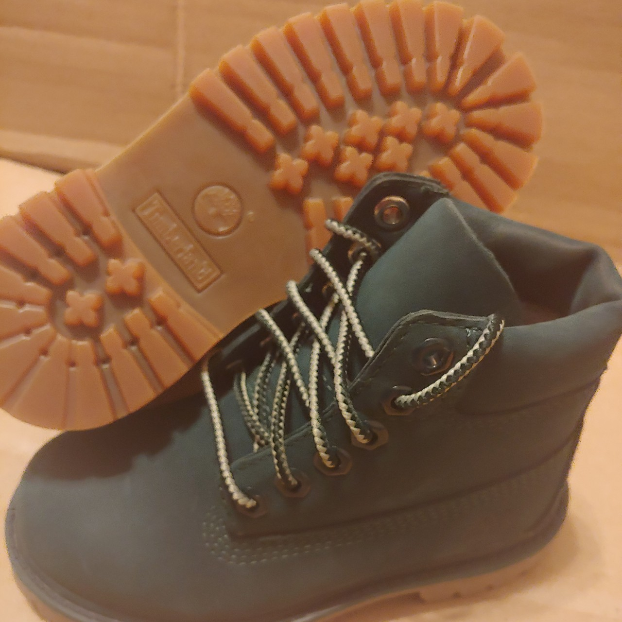 Hunter Green Toddler Timberland Boots Size 9c New Depop
