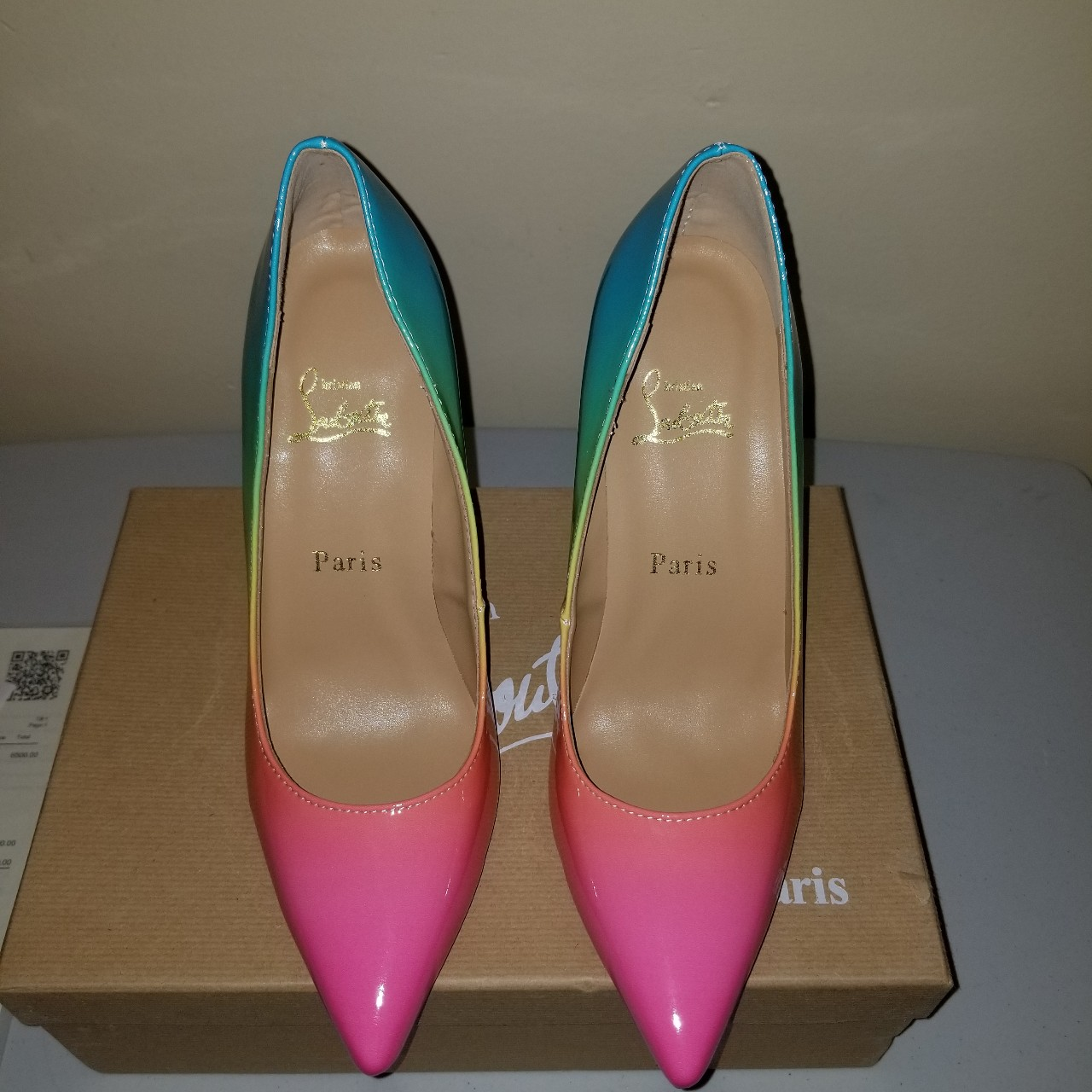 newest b8d17 b4f10 Rainbow Pigalle Follies Pump ******Christian... - Depop