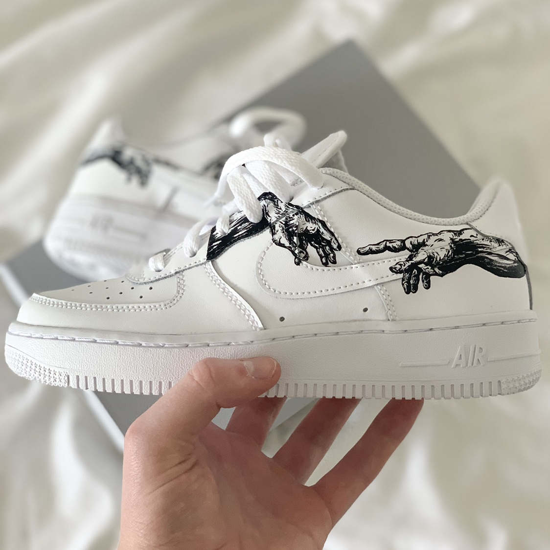 hand customized nike air force ones ba74d9a2