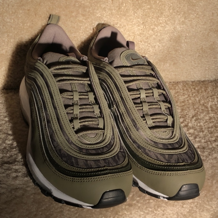 new concept 4ace9 7c229 New never worn Nike air max 97 Tiger Camo Olive... - Depop