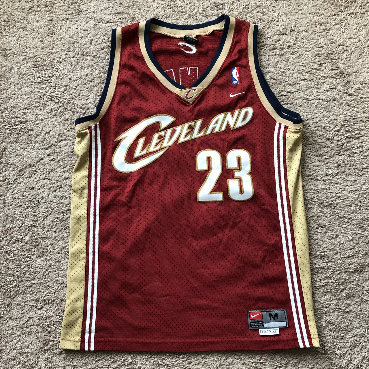 the latest 54c36 47141 LeBron James Cleveland Cavaliers Nike Jersey. Size... - Depop