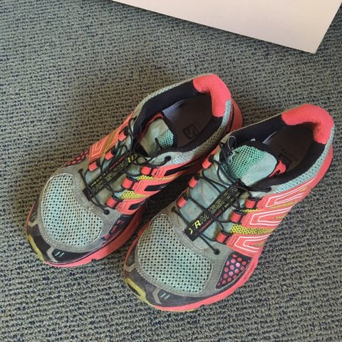 e93eadc2b3b6 Salomon hiking shoes. I wore the crap of these babies they - - Depop