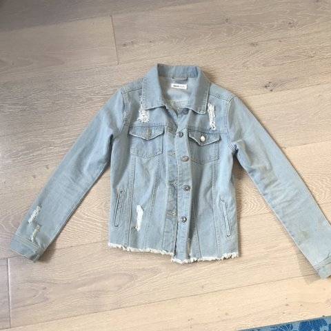 ae931fc9c4a Light wash ripped denim jacket. From Shein. Bought for £25. - Depop