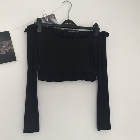 122ed9467af30  laurenframptonx. 18 days ago. United Kingdom. plt black Bardot frill  jersey long sleeved top ...