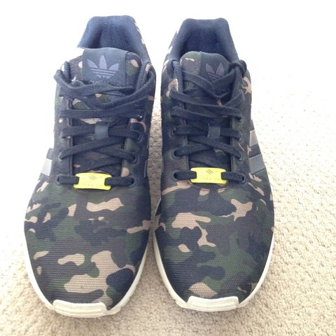 e285bad25a251 Adidas ZX Flux camo for sale! In a UK 9, in a good 9-9.5/10 - Depop