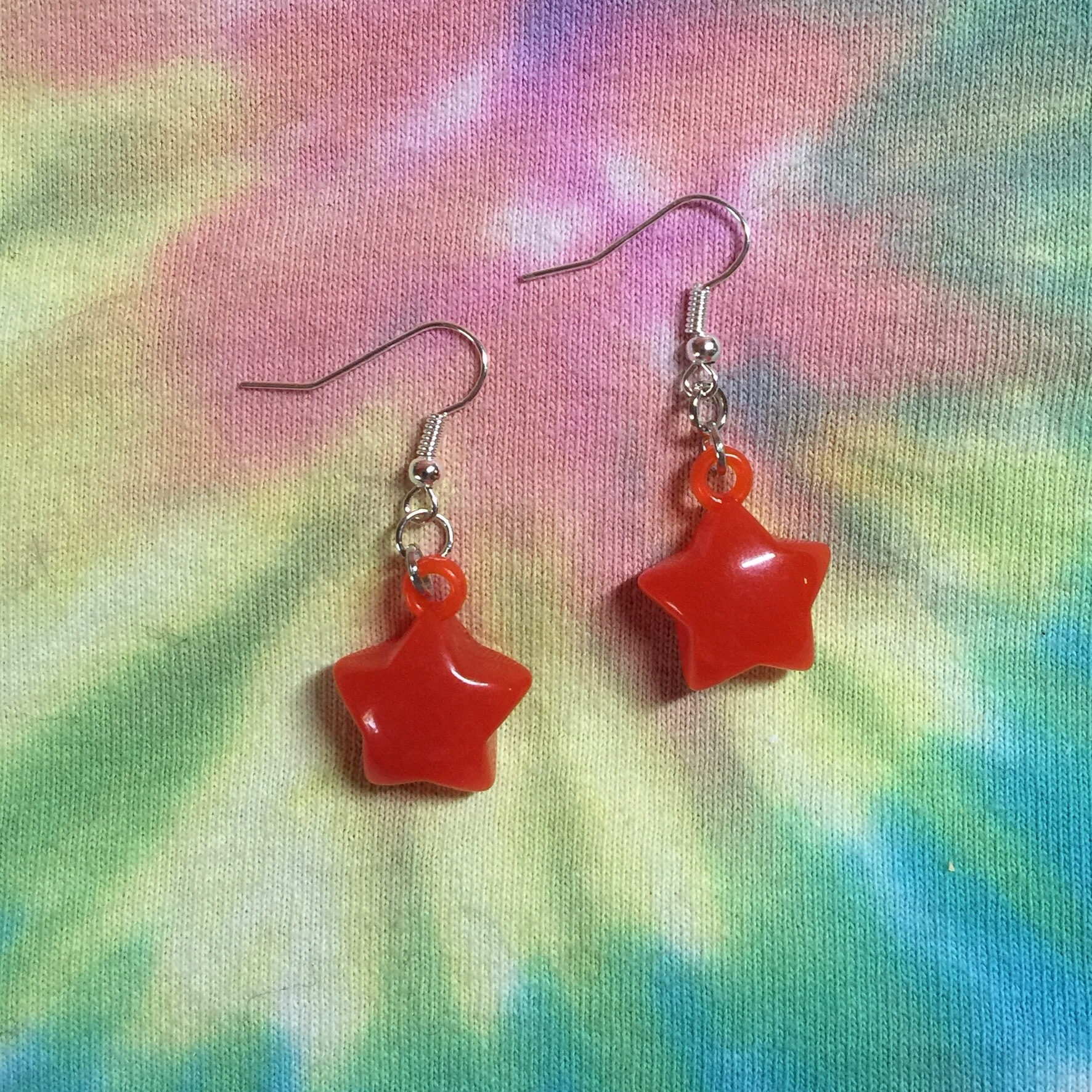 red candy star earrings TAGS: #cute #girly #kitsch    - Depop