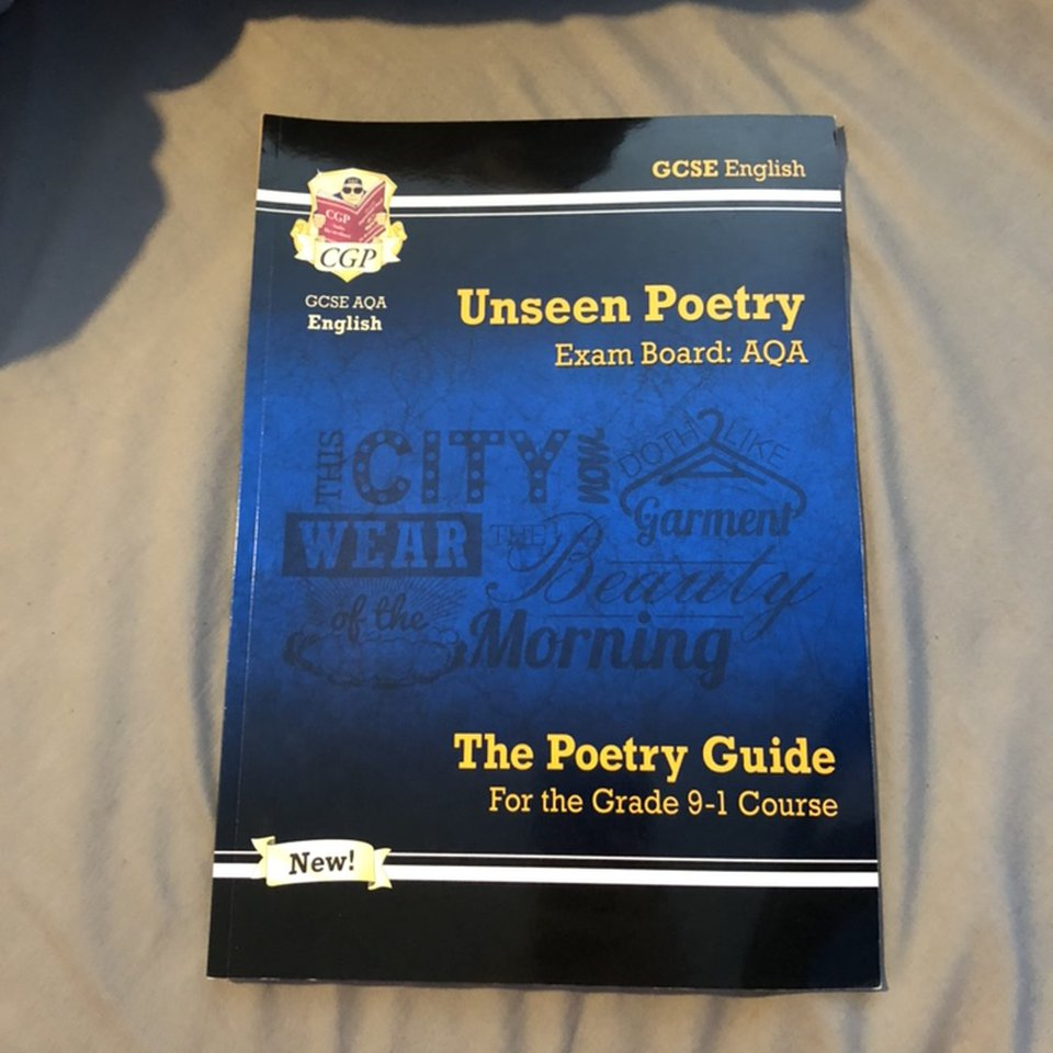 CGP GCSE English, Unseen poetry guide for AQA exams