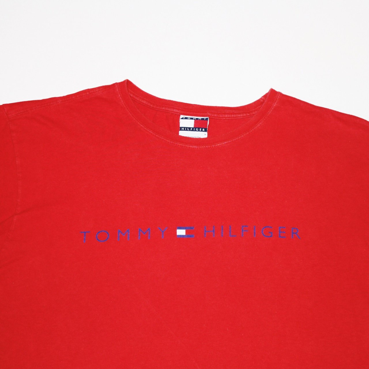 9a484fd9eb @harrisdukeuk. 2 years ago. England, UK. Tommy Hilfiger T Shirt - Spellout  & Red In Colour - Men's Medium ...