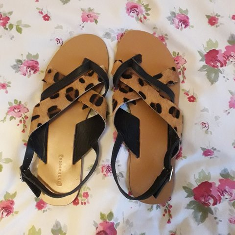 afc68cbea81b @barksparks. 2 months ago. Greater London, United Kingdom. Warehouse lovely  black leather and leopard print sandals