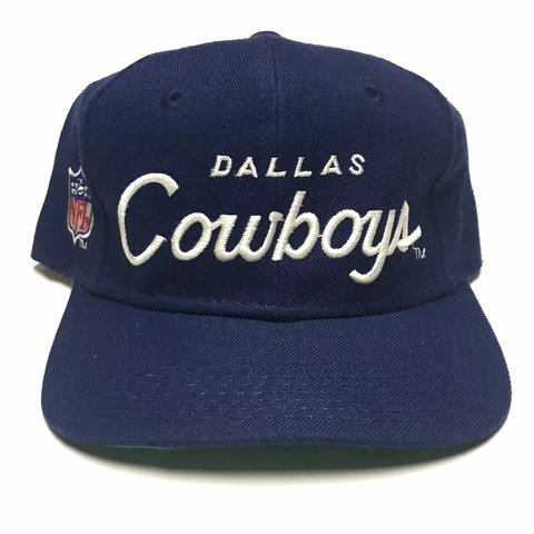 e31899cec81ab Vintage Sports Specialties Dallas Cowboys Single Line Pro - Depop