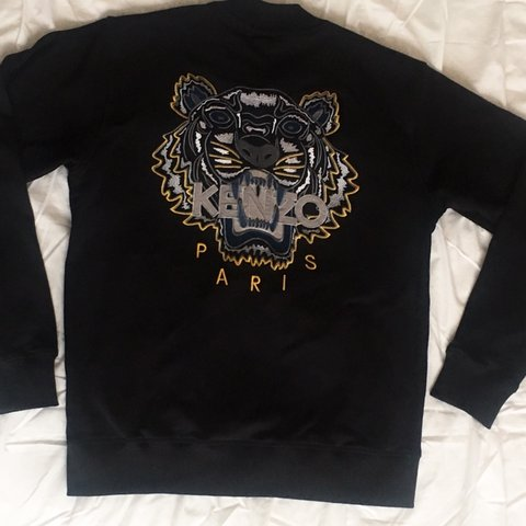 991075ea Brand new KENZO Paris tiger logo black zip up jumper🌟 - a - Depop