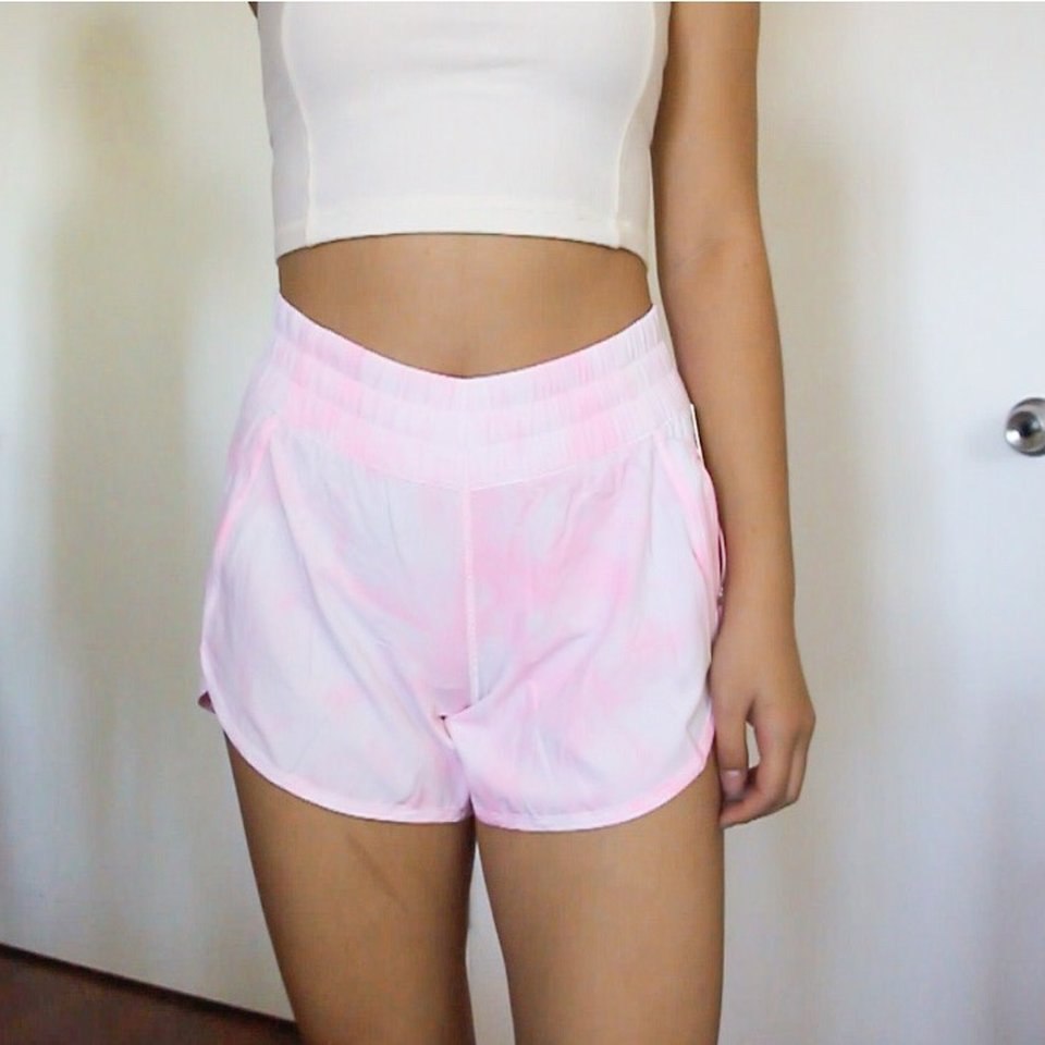Lululemon Tracker Short V Light Pink Tie Dye Depop