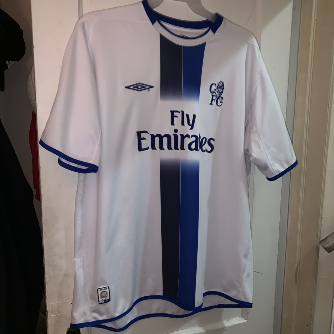 the best attitude 1525e 34aa6 2003-2004 Chelsea Fly Emirates Jersey UMBRO Size... - Depop