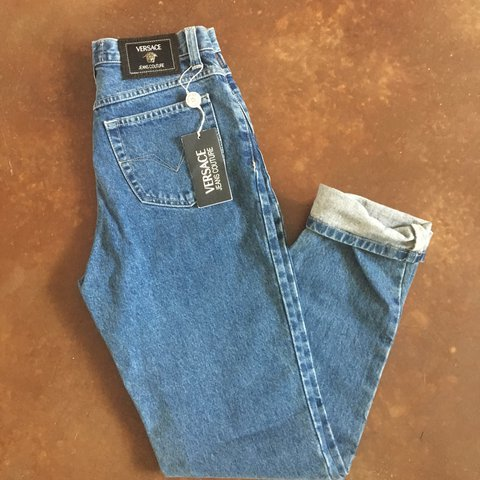 36f6951039eb4 Unique piece unworn from Versace. Jeans couture. Mom Jeans. - Depop