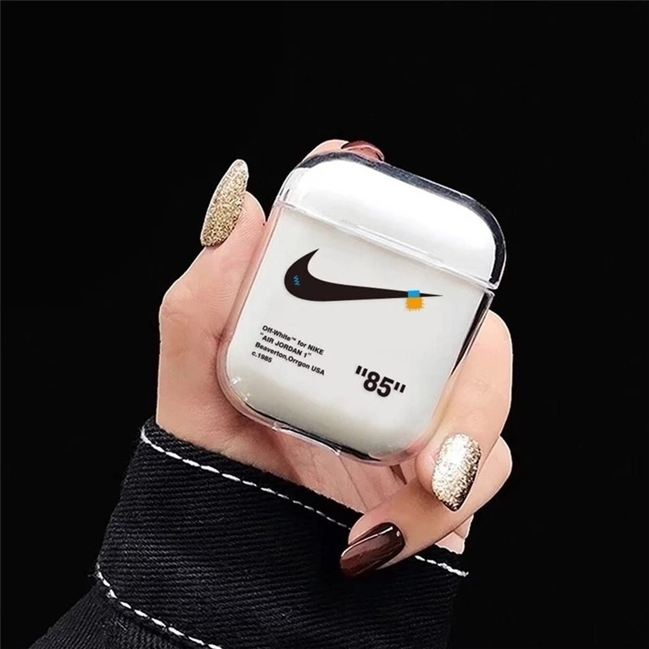 Offwhite Nike Style Airpods Case Free Shipping To Depop