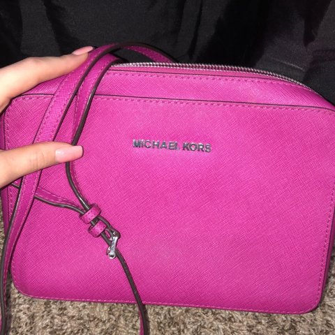 0163e8ec5927 @danielsrbrea. last month. Independence, United States. Bright colored Michael  Kors purse! Silver detailing and very long shoulder strap.