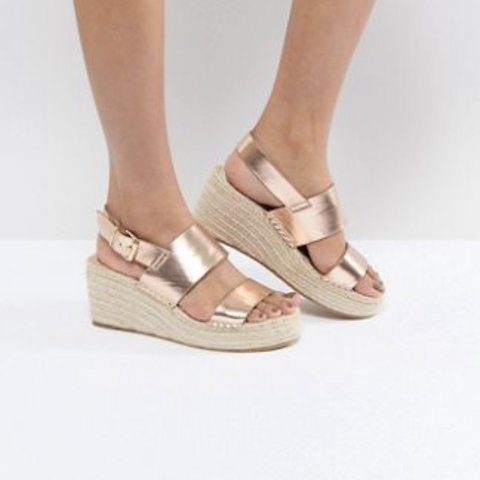 a97f945753f ASOS rose gold espadrille wedges. Only tried them on