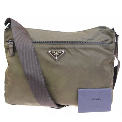 72eba09a352c @expressvint. 23 days ago. Trabuco Canyon, United States. [STEAL!] Prada  Crossbody Bag Brown Khaki