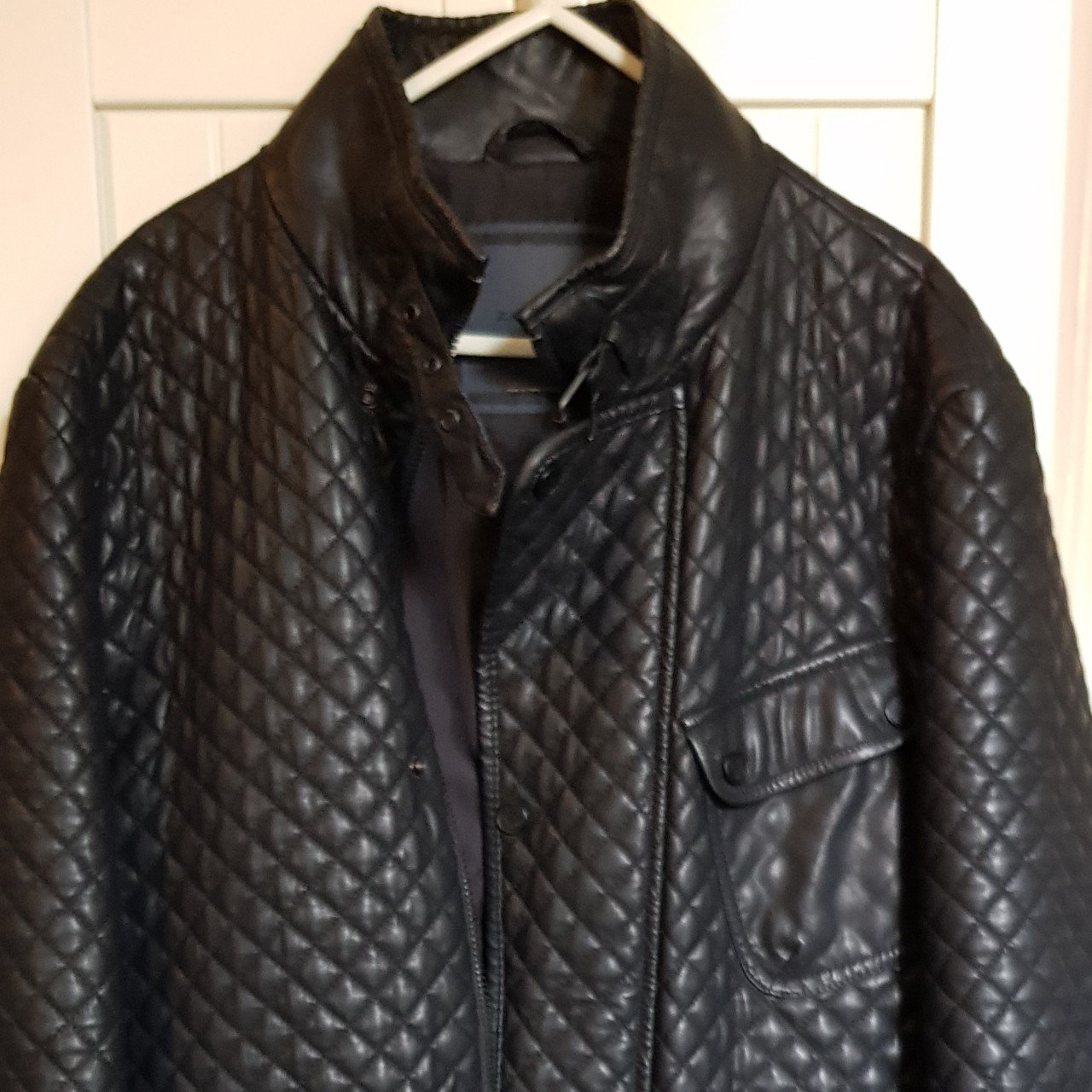 Zara Mens Faux Leather Jacket For Sale Used But In Good Depop