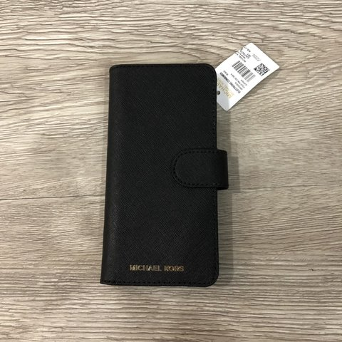 08d6d4d20444 @jamiehopkins26. 15 days ago. Festus, United States. Michael Kors. New with  tags. Black saffiano leather folio case for galaxy S8.