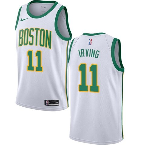 6adc043d85a Nike Celtics  11 Kyrie Irving White NBA Swingman City - Depop