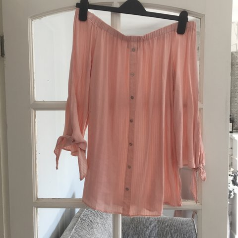 22620a0c Pink off the shoulder top from George at Asda Only worn - Depop