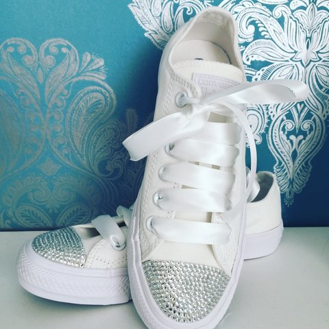15bc574db870 Adult crystal converse  crystal  converse  white  fashion - Depop