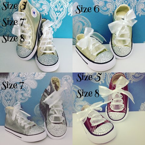 8944b44500e REDUCED CONVERSE!! Crystal toddler converse available in 5-8 - Depop