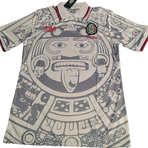 432b7b89dea 1998 mexico retro Away soccer jersey. Famous this the Aztec - Depop