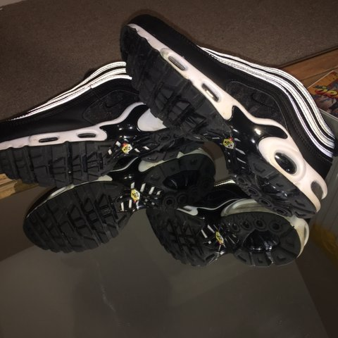 edefc957106 Nike tn Tuned 1 Air Max 97 Black and white 10 10 only worn - Depop