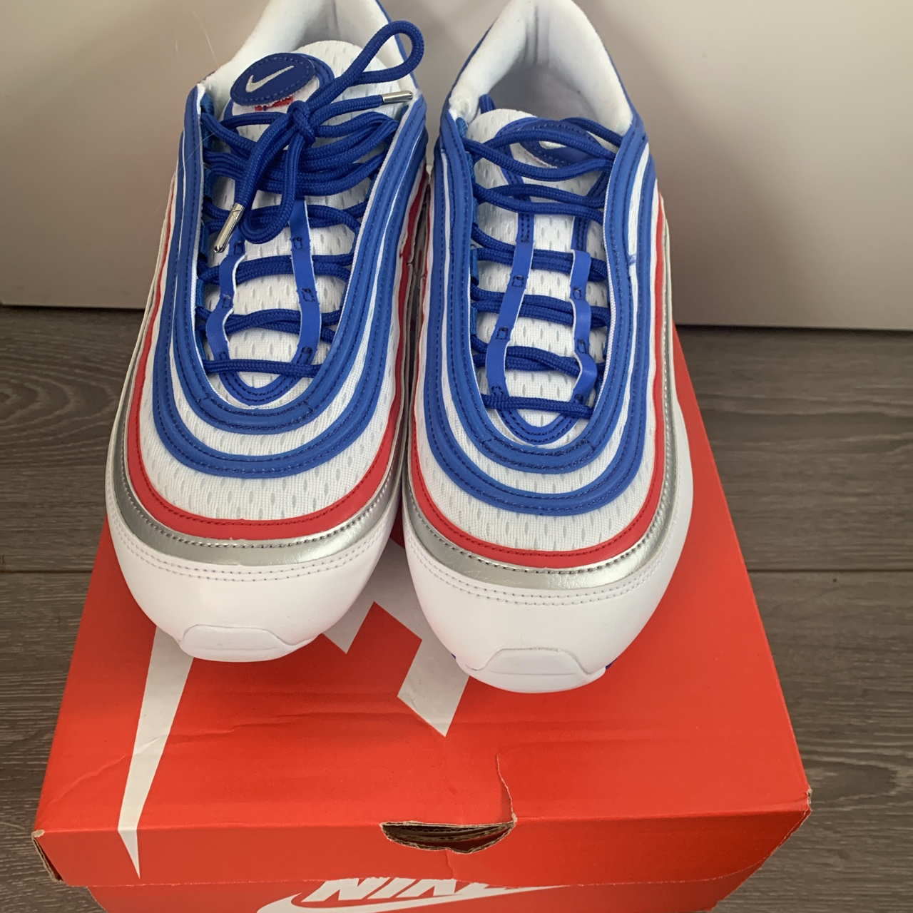 Nike air max 97 game royal metallic silver jeu Depop