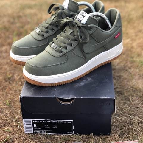 14abde39ada82 @tomtommchenry. 8 months ago. Essex, UK. Supreme Nike Air Force one Olive  ...