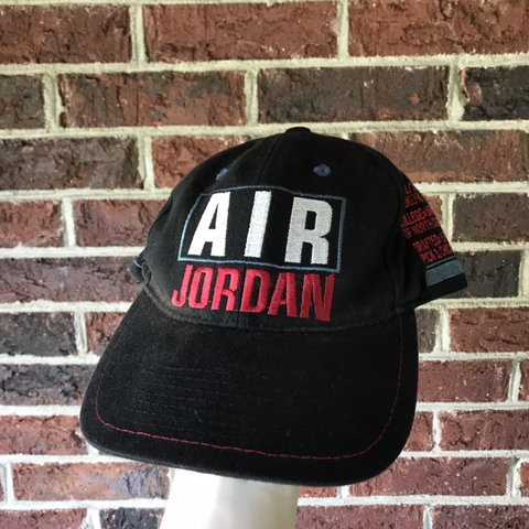 b89e9c8a3437 Vintage Nike x Air Jordan Snapback Hat All of Jordan on one - Depop