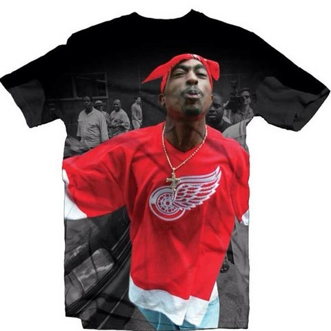 Tupac Red Wings T Shirt Men S Large Limited Edition Depop